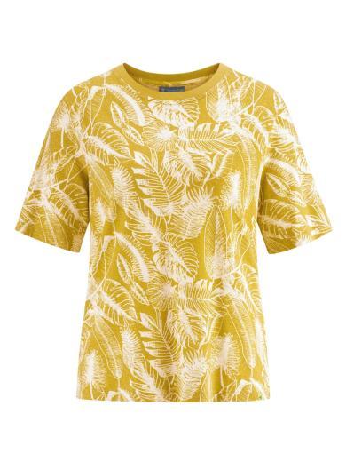 HempAge T-Shirt Jersey Jungle Print Curry