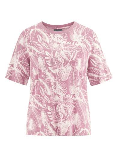 HempAge T-Shirt Jersey Jungle Print Rose