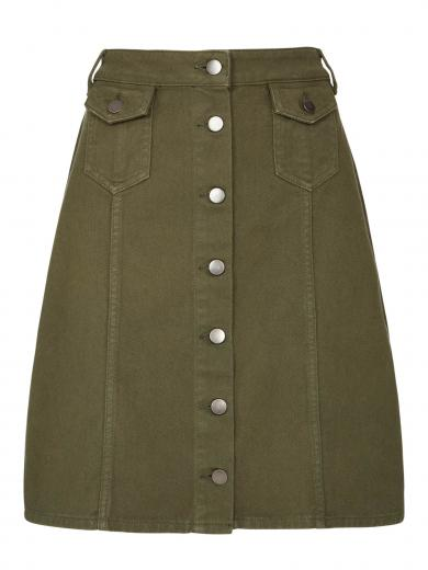 People Tree Francine Skirt khaki
