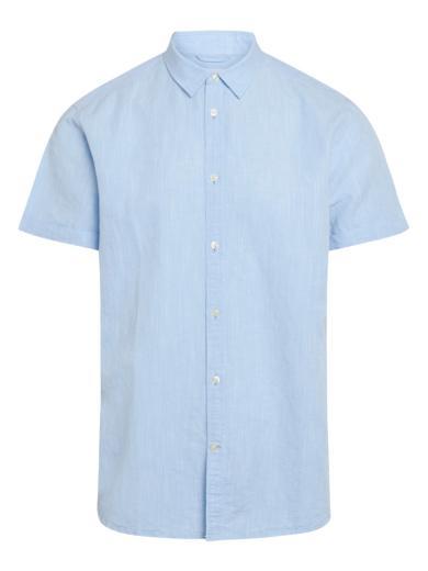 Knowledge Cotton Apparel LARCH SS linen shirt