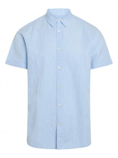 Knowledge Cotton Apparel LARCH SS linen shirt Skyway
