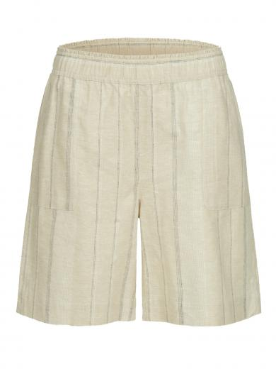 LANIUS Streifenshorts Powder White