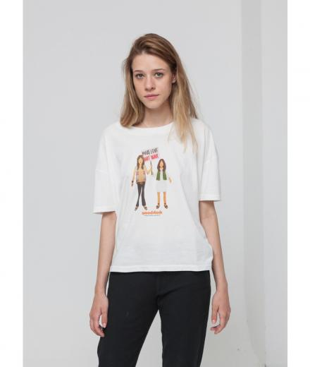 Thinking MU Make Love Not War Ivy T-Shirt Snow White