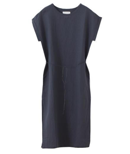 Thinking MU Dress Long Linen Phantom   L