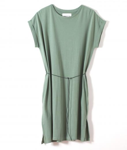 thinking mu Dress Hedge Green