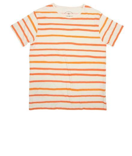 Thinking MU Aquarela Orange Stripes Tee