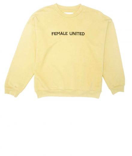 Thinking MU Jersey Female United Embroidery yellow raffia | M