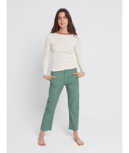 Green Dafne Pant green forest | M