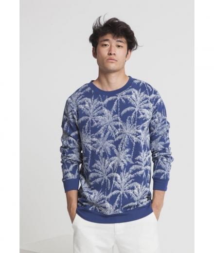 Thinking MU Palmeras Sweatshirt blue marino | L