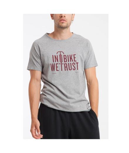 Thinking MU In Bike We Trust T-Shirt grey melange | L
