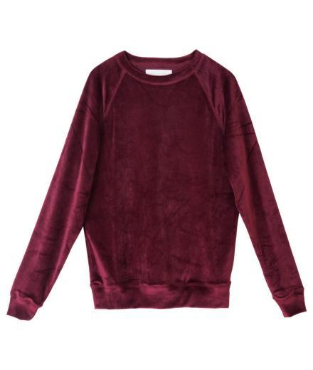 Thinking MU Sweat Velvet L | red