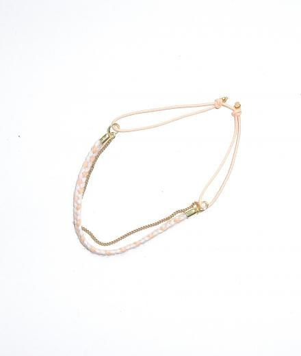 Tinchens Flechtarmband Half Knit Camelia