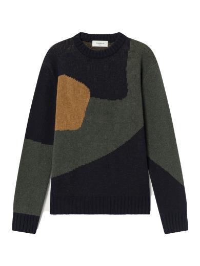 Thinking MU Abstract Khem Knitted Sweater