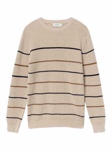 Thinking MU Miki Knitted Sweater bone