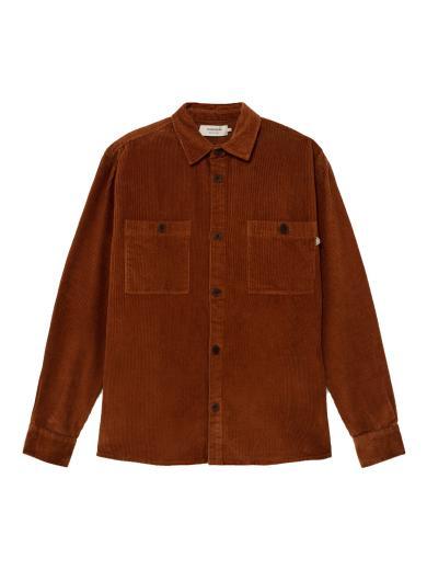 Thinking MU Corduroy Bes Overshirt clay red