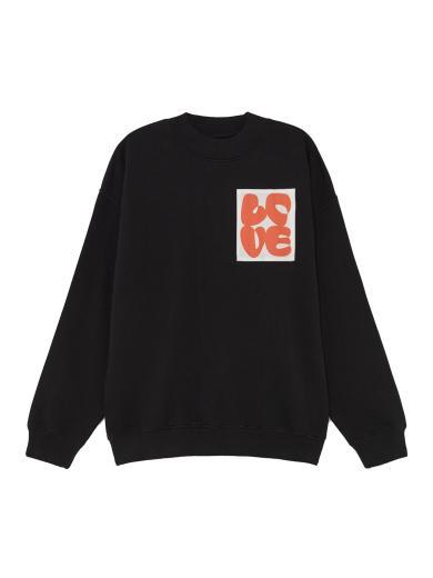 Thinking MU Love Sweatshirt schwarz