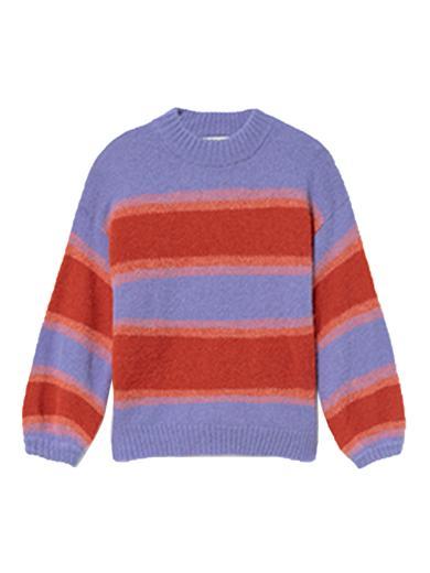 Thinking MU Lada Knitted Sweater mauve