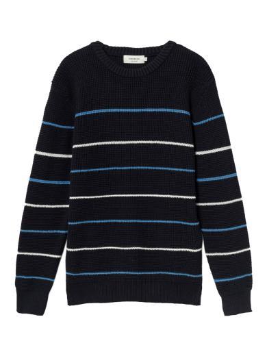 Thinking MU Miki Knitted Sweater navy