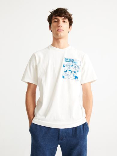 Thinking MU Green Washing T-Shirt white | S