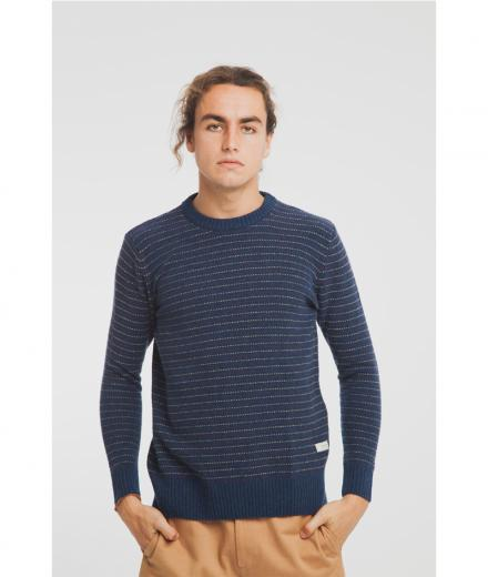Thinking MU Blue Lines Sweater blue | L
