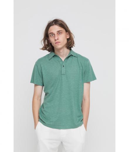 Thinking MU Hemp Polo forest green | M