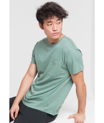 Thinking MU Pocket T-Shirt garden green | L