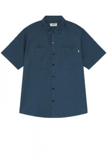 Thinking MU Blue Hemp Shirt blue