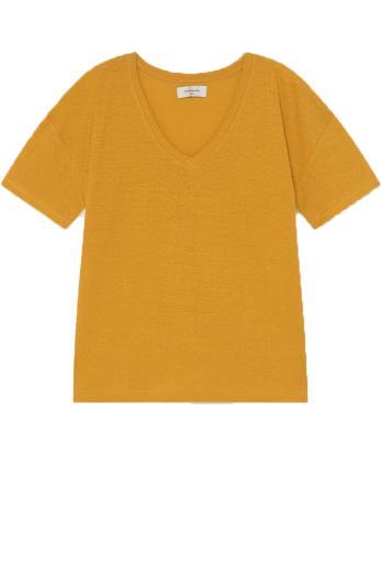 Thinking MU Hemp Chloe T-Shirt mustard   S