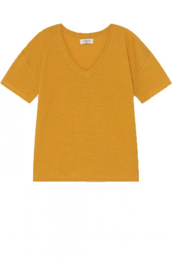 Thinking MU Hemp Chloe T-Shirt mustard | S