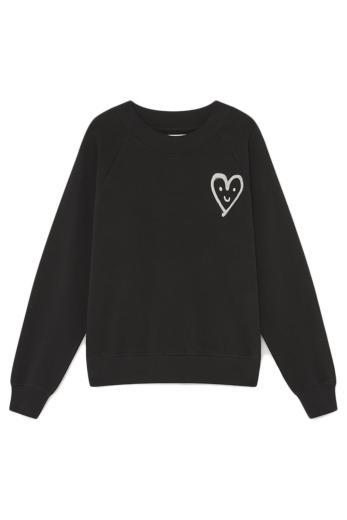 Thinking Mu Cutre Heart Raglan Sweatshirt