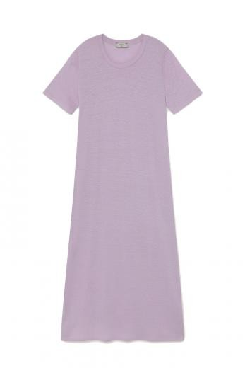 Thinking MU Hemp Oueme Dress mauve | XS