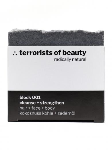 terrorists of beauty seife block 001 cleanse + strengthen