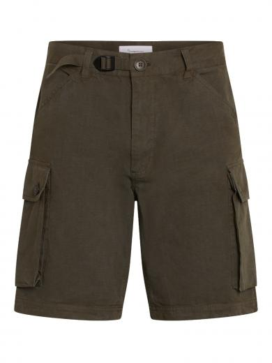 Knowledge Cotton Apparel Trek durable rib stop shorts Forrest Night