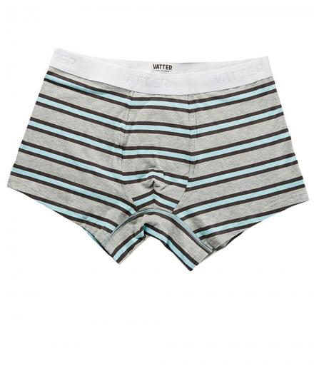 VATTER Trunk Short Tight Tim Grey/Black/Blue Stripes M