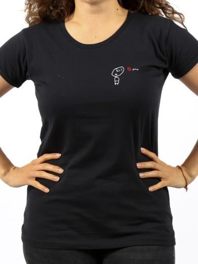 Kipepeo Clothing Damen T-Shirt Love You Schwarz