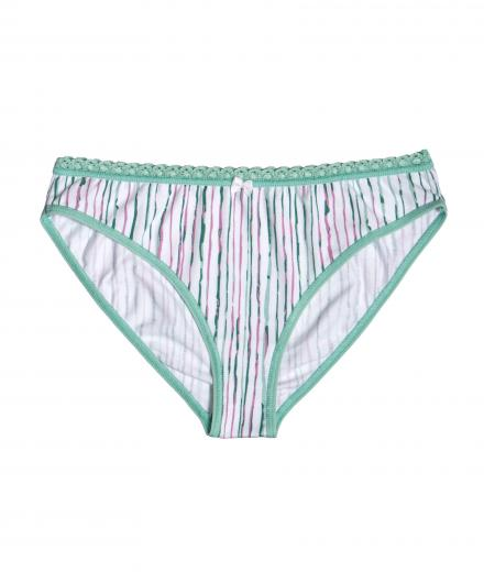VATTER Bikini Slip Steady Suzie mint stripes S