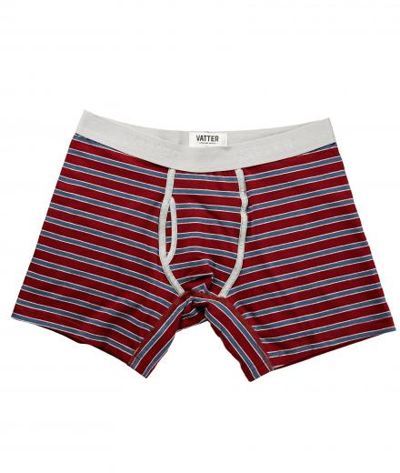 VATTER Boxer Brief Classy Claus red/blue/grey stripes XL