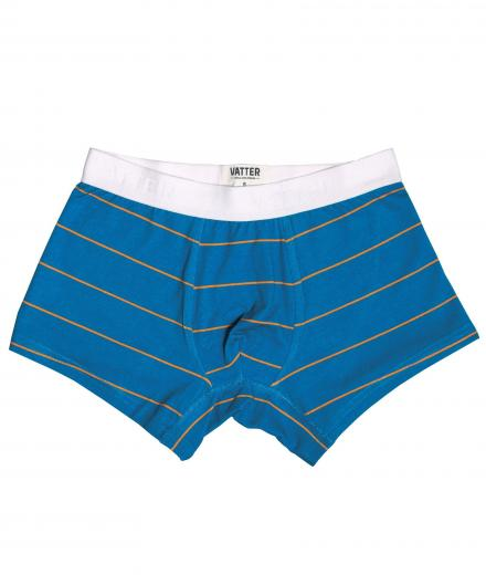 VATTER Trunk Short Tight Tim Blue/Orange Stripes S