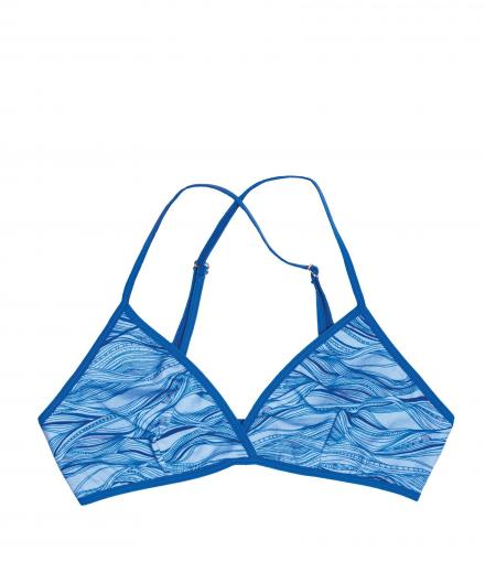VATTER Triangle Bra Fine Frida blue waves L