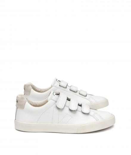 VEJA 3-Lock Leather Extra White Pierre Natural