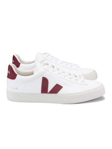 VEJA Campo Chromefree Leather White Marsala
