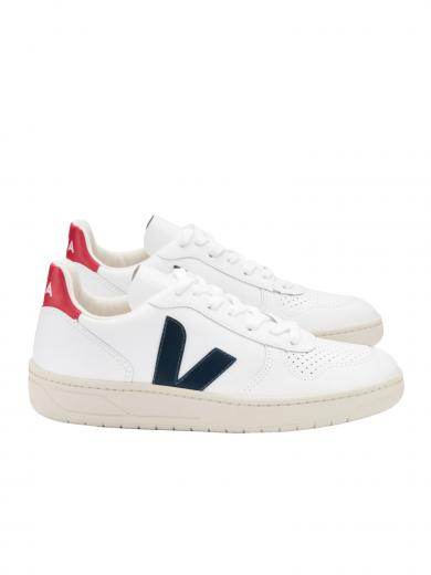 VEJA V-10 Leather White Nautico Pekin