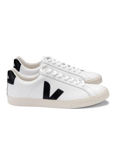 VEJA Esplar Logo Leather Extra White Black