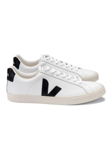 VEJA Esplar Logo Leather Extra White Black