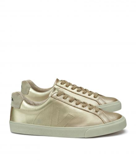 VEJA Esplar Low Leather Gold Pierre Natural Puxador