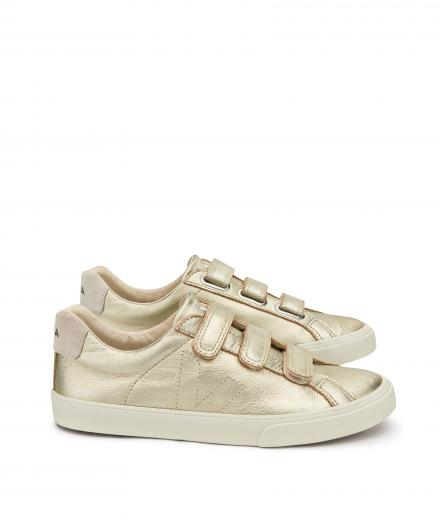Veja 3 Lock Leather Gold Pierre