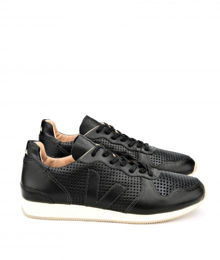 Veja Holiday Bastille Leather Black Black Black