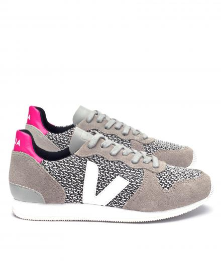 Veja Holiday Low Top Blend Black White Oxford Grey White