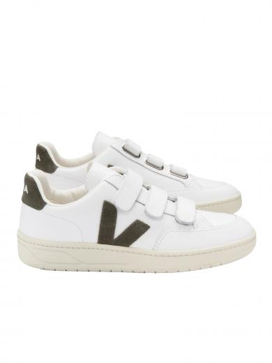 VEJA V-Lock Leather Extra White Kaki