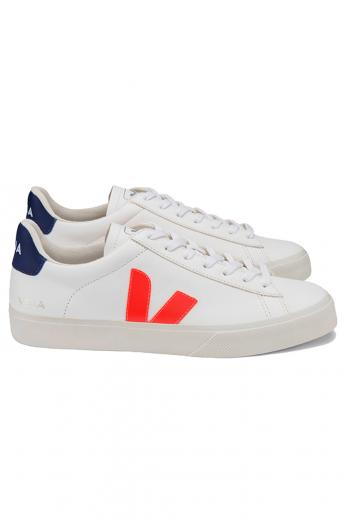 VEJA Campo Chromefree Extra White Orange Fluo Cobalt